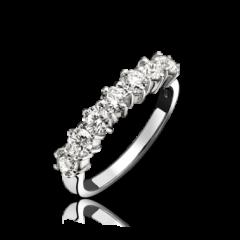 9 stone Round Brilliant Cut Ring