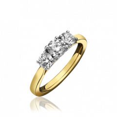 3 Stone Diamond Graduated Ring