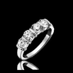4 Stone Bar Set Diamond Ring