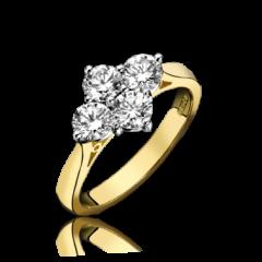 Diamond 4 Stone Ring (NSEW)