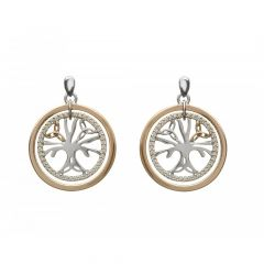 House of Lor Tree of Life Earrings CZ
