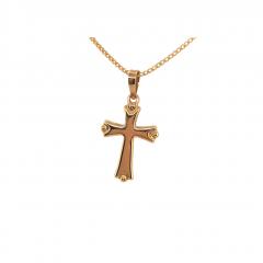 9ct Yellow Gold Byzantine Cross