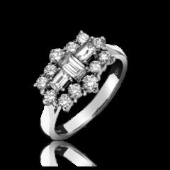 Diamond 15 Stone Cluster Ring