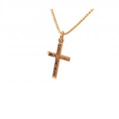 9ct Yellow Gold Plain Flat Latin Cross