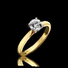 Single Stone Round Brilliant Cut 4 Claw Ring