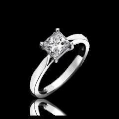 Single Stone Diamond Princess Cut