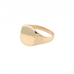 9ct Gold Oval Cushion Signet Ring
