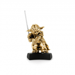 Limited Edition Stars Wars Pewter Yoda Figurine with 24ct Gilt