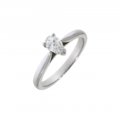 Single Stone Diamond Pear Shaped Ring