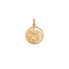 9ct Gold St Christopher Pendant 15x15mm