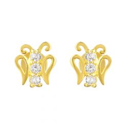 22ct Gold Butterfly Earring
