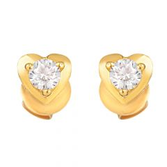 22ct Gold Heart Earring