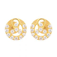 22ct Gold Round Stud Earring