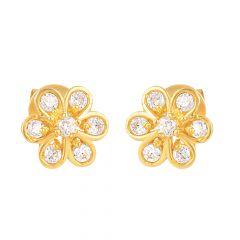 22ct Gold Flower Earring