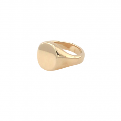 9ct Gold Oval Plain Heavy Signet Ring