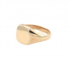 9ct Gold Oval Cushion Medium Signet Ring - Size V