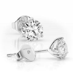 18 carat White Gold Martini Ice 1 carat Diamond Laboratory Grown Earrings