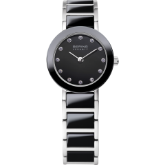 Ladies Black Ceramic Link Watch