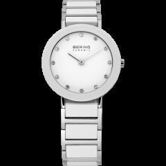 Ladies White Ceramic Link Watch