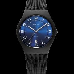 Men's Titanium Milanese Black Watch