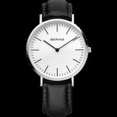 Unisex Black Calfskin Leather Watch