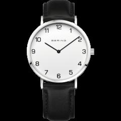Men's Black Calfskin Leather Watch