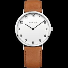Men's Brown Calfskin Leather Watch
