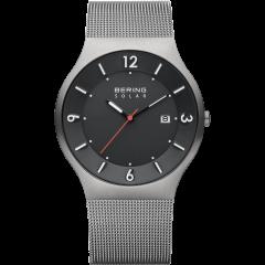 Men's Milanese Grey Solar Watch