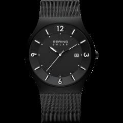 Men's Milanese Black Solar Watch