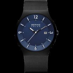 Men's Milanese Blue Solar Watch