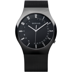 Men's Milanese Black Radio Controlled Watch