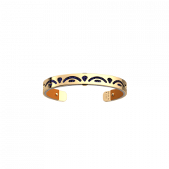 Les Georgettes Poisson Gold with Blue Glitter/Apricot Leather 8mm