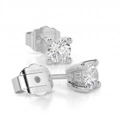 18 carat White Gold ICE CUBE 0.20ct Laboratory Grown Diamond Stud Earrings