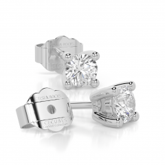 18 carat White Gold ICE CUBE 0.50ct Laboratory Grown Diamond Stud Earrings