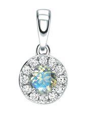 Moonstone & Diamond Cluster Pendant