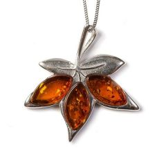 Henryka Autumn Maple Leaf Necklace