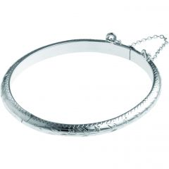 Engraved Sterling Silver Baby's Bracelet
