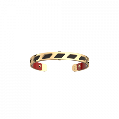 Les Georgettes Ruban Gold with Patent Red/Black Leather 8mm