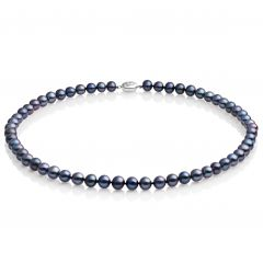 Mid-length 7-7.5mm Classic Peacock Pearl Necklace 18inch