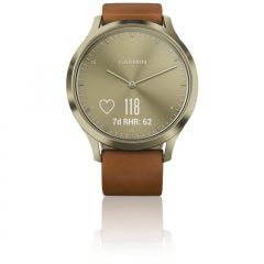 Garmin VivoMove Premium HR Gold/Leather