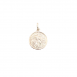 Sterling Silver 16mm round St Christopher pendant