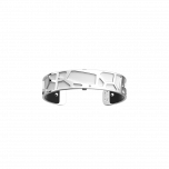 Les Georgettes Giraffe Silver with Black/White Leather 14mm