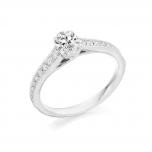 Oval Diamond Solitaire Platinum Engagement Ring