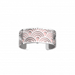 Les Georgettes Poisson Silver with Pink/Grey Leather 25mm