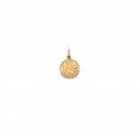 9ct yellow gold 10.20 x 12.45 round St Christopher pendant