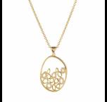 Versa 18ct Yellow Gold And Diamond Pendant the pendant